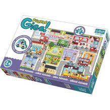 Gigantic Puzzle Місто + дерев'яна фігурка 12ел., Trefl, 90754
