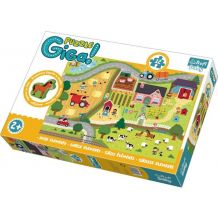 Gigantic Puzzle Ферма + дерев'яна фігурка 12ел., Trefl, 90753