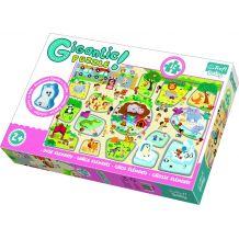Gigantic Puzzle Зоопарк + дерев'яна фігурка 12ел., Trefl, 90756