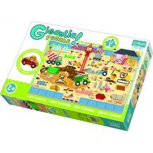 Gigantic Puzzle Будівельний майданчик + дерев'яна фігурка 12ел., Trefl, 90755