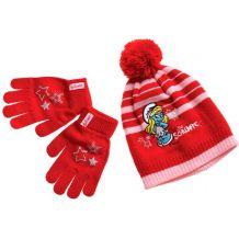Красный набор шапка + перчатки Smurfs для девочки, Disney, 41410