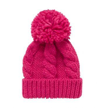 Купити В язана рожева шапка для дівчинки 6b35fcdb90069
