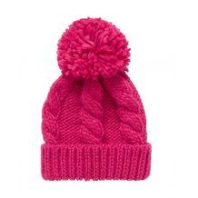 Вязаная розовая шапка для девочки, Mothercare, 9422