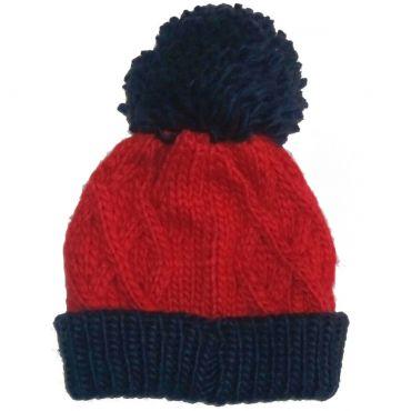 В язана червона шапка для малюків 20f88910d665b
