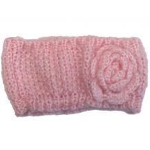 В'язана рожева повязка на голову для дівчинки, Mothercare, 7567610