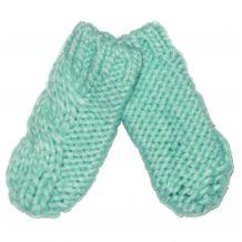 В'язані голубі рукавички для дівчинки, Mothercare, 9426