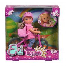 Кукольный набор Simba Эви Холидей На велосипеде Evi Love 12 см с собачкой и аксессуарами, 5733273