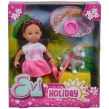 Кукольный набор Simba Эви Холидей Друг Evi Love 12 см с собачкой и аксессуарами, 5733272