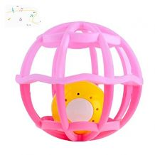Музыкальное погремушку-шар розовое, Baby Mix, Gv-G106