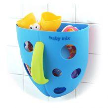 Корзина для іграшок для купання на присосках синя, Baby Mix, BH-708