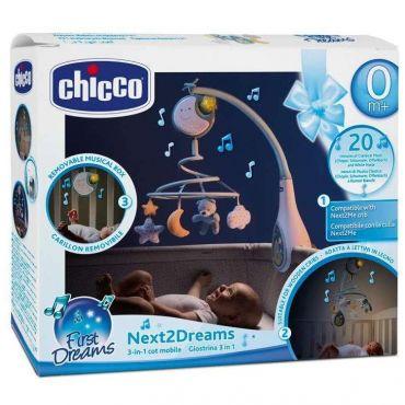 Іграшка-мобіль синя Next2Dreams 3 в 1, Chicco, 076272