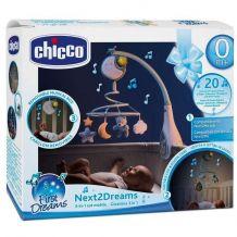 Игрушка-мобиль синяя Next2Dreams 3 в 1, Chicco, 076272