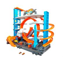 Мега гараж Hot Wheels з акулою, FTB69