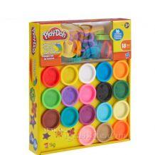 Набір для ліплення Play-Doh 18 баночок з аксесуарами, A4897