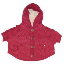 Свитер пончо на меховой подкладке для девочки, Mayoral, 2361