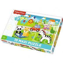 """Пазл Maxi """"Пікнік з друзями"""" 15ел., Fisher Price, 14286"""