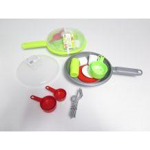 Набір посуди в сірій сковорідці, Ecoiffier, 973