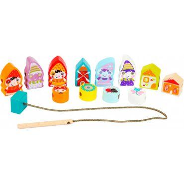 Дерев'яна іграшка Cubika Селище гномів на шнурівці, 13654