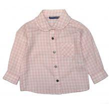 Розовая рубашка в клетку для девочки, Original Marines, 1443