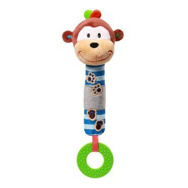 """Іграшка-пищалка з прорізувачем """"Мавпочка Джордж"""", Babyono,619"""