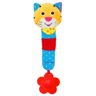 """Іграшка-пищалка з прорізувачем """"Тигр"""", Baby Mix, TE-8377B"""