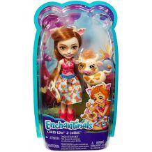 Лялька Enchantimals Корівка Кейлі і Кардл 15см, FNH22/FXM77