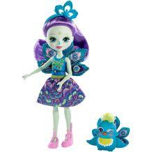Кукла Enchantimals Петтер Павлина 15см, (обновленная), DVH87 / FXM74