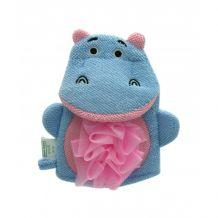 Мочалка-перчатка детская бегемотик, Baby team, 7408