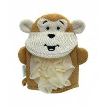 Мочалка-перчатка детская обезьянка, Baby team, 7408