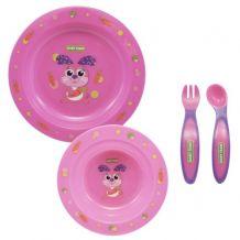 Набор для кормления розовый, Baby Team, 6010