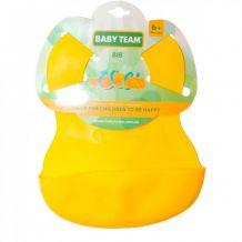 Нагрудник силіконовий жовтий, Baby Team, 6500