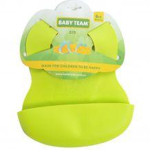 Нагрудник силіконовий зелений, Baby Team, 6500