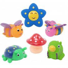 "Набор игрушек для ванны ""Друзья на полянке"", 6 шт., Baby Team, 9056"
