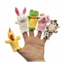 Набор игрушек на пальцы «Веселые пушистики», 5 шт., Baby Team, 8710