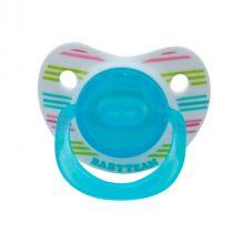 Пустышка силиконовая ортодонтическая (голубая), 0+, Baby Team, 3001
