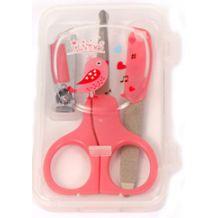 Маникюрный набор в футляре розовый, Lindo, LI801