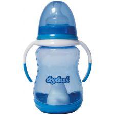 Набір пляшка+поїльник синя з ручками, 250мл, Dyduś, Z143