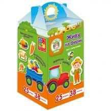 """Гра на коробці """"Живу на фермі"""", Vladi Toys, VT1312-11"""
