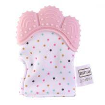 Прорезыватель-перчатка 3+, (розовая), Baby Team, 4090