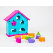 """Розвиваюча іграшка-сортер """"Будиночок"""" в коробці, Wader, 39351"""