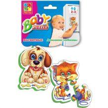 Магнітний Baby-Puzzle «Домашні улюбленці» (рос), Vladi Toys, VT3208-02