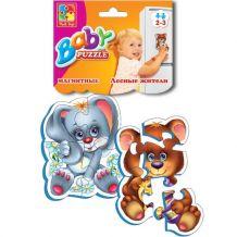 Магнітний Baby-Puzzle «Лісові мешканці» (рос), Vladi Toys, VT3208-03