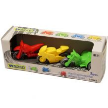 """Набір мотоциклів """"Kid cars Sport"""" 3 шт, Wader, 39545"""