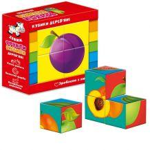 """Дерев'яні кубики """"Фрукти"""", Vladi Toys, ZB1001-04"""