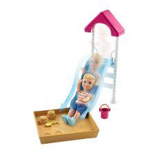 """Ігровий набір Barbie Babysitters """"Гірка і пісочниця"""", Mattel, FXG94/FXG96"""