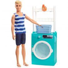 """Игровой набор Barbie Кен """"Стиральная машина и сушилка"""", Mattel, FYK51 / FYK52"""