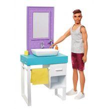 "Ігровий набір Barbie Кен ""Ванна кімната"", Mattel, FYK51/FYK53"