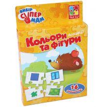 """Настільна гра """"Асоціації. Кольори та фігури"""" (укр), Vladi Toys, VT1901-08"""