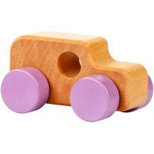 Дерев'яна іграшка Міні-машинка фіолетова, Cubika, 13227