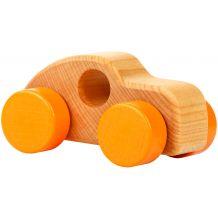 Деревянная игрушка Мини-машинка оранжевая, Cubika, 13258